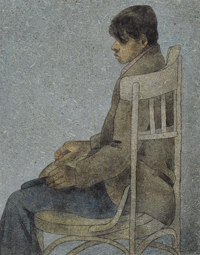 Seated Boy - Louay Kayyali