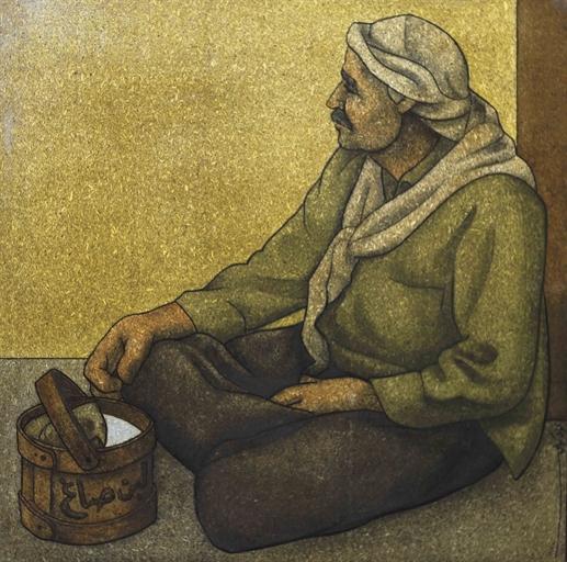 Seated Old Man, 1974 - Louay Kayyali