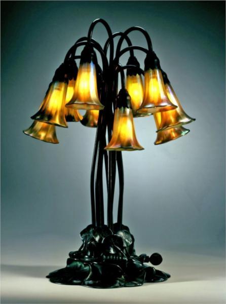 Decorative Lamp Pond Lily Design 1902 Louis Comfort