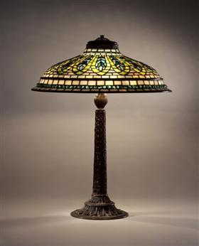 Library Lamp. Indian Hookah design, Louis Comfort Tiffany
