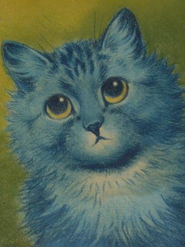 Blue Cat, 1932 - Louis Wain