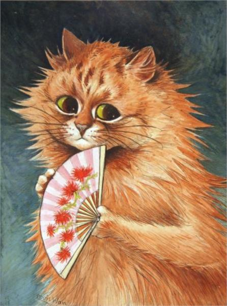 STUDY OF A GINGER CAT - Louis Wain