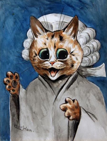 THE BARRISTER - Louis Wain