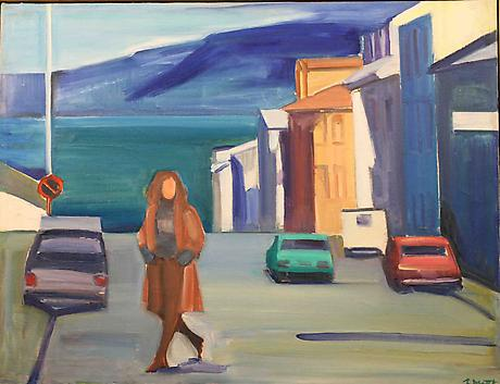 Woman in Street, 1980 - Louisa Matthiasdottir