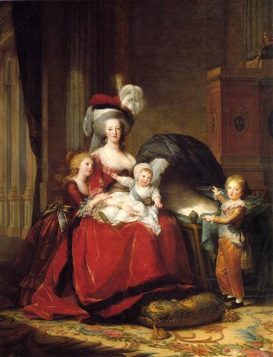 Marie Antoinette and her Children - Louise Elisabeth Vigee Le Brun