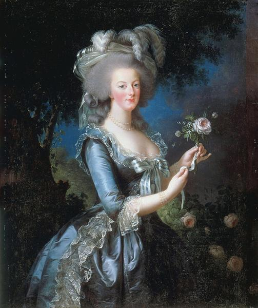 Queen Marie Antoinette of France - Louise Elisabeth Vigee Le Brun