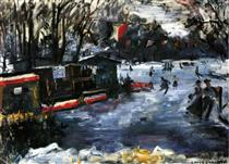 Ice Skating Rink in The Tiergarten-Berlin - Lovis Corinth