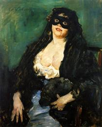 The Black Mask - Lovis Corinth