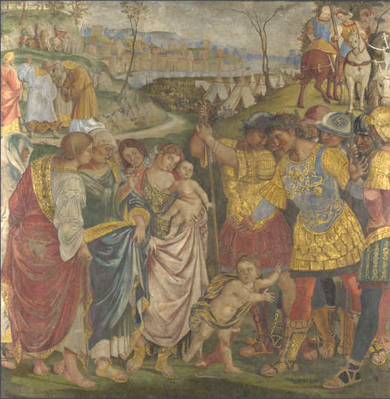 Coriolanus persuaded by his Family to spare Rome - Luca Signorelli