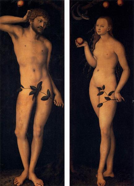 Adam and Eve, 1528 - Lucas Cranach the Elder