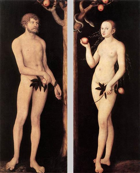 Adam and Eve, 1531 - Lucas Cranach el Viejo