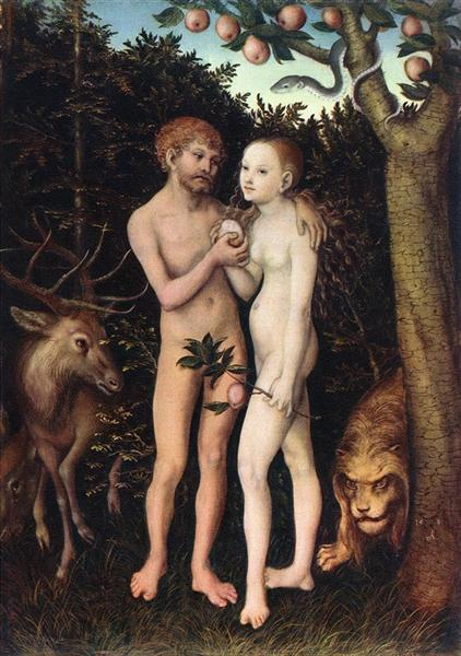 Adam and Eve, 1533 - Lucas Cranach der Ältere