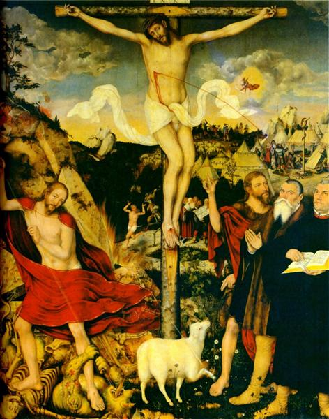 Christ as Savior with Martin Luther, 1552 - Lucas Cranach der Ältere