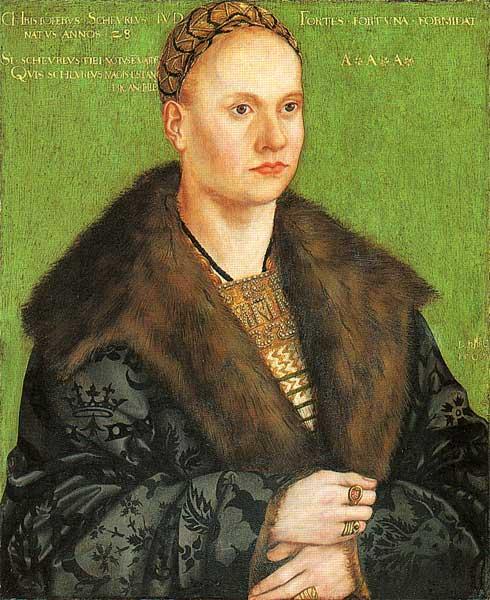 Christoph von Scheurl, 1509 - Lucas Cranach der Ältere