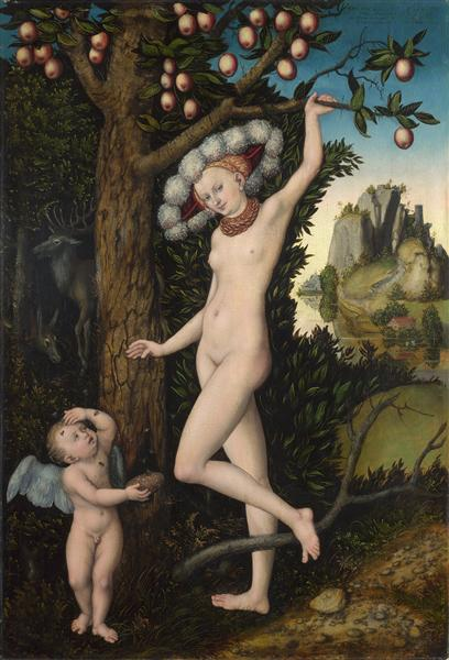 Cupid complaining to Venus. - Lucas Cranach the Elder