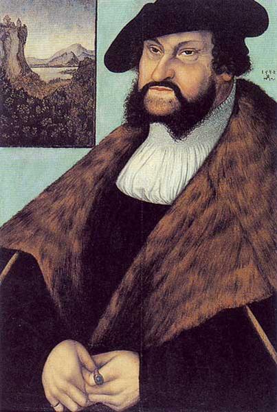 Johann Friedrich von Sachsen, 1532 - Lucas Cranach der Ältere