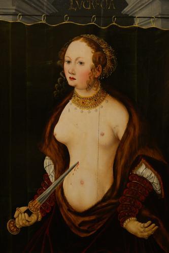 Lucretia suicidarse.  - Lucas Cranach el Viejo