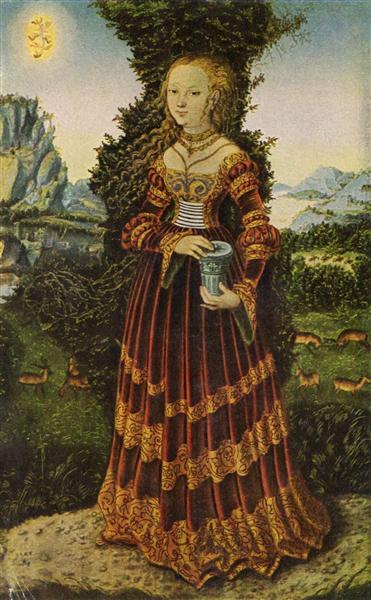 Portrait of a Saxon noblewoman as Mary Magdalene, 1525 - Lucas Cranach der Ältere