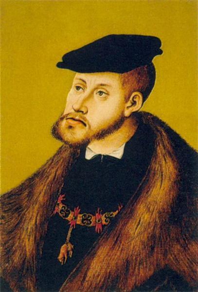 Porträt Kaiser Karls des V., 1533 - Lucas Cranach der Ältere
