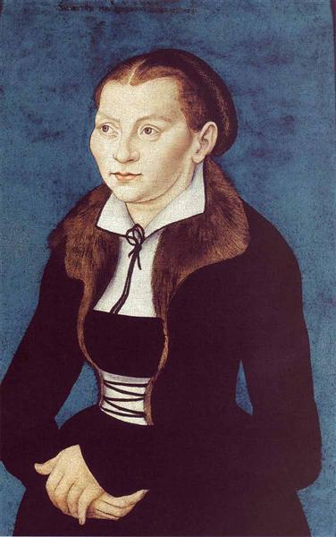 Portrait of Katharina von Bora, 1529 - Lucas Cranach der Ältere