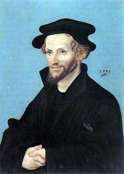 Portrait of Philipp Melanchthon, 1543 - Lucas Cranach l'Ancien