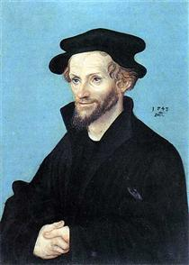 Портрет Филиппа Меланхтона - Лукас Кранах Старший