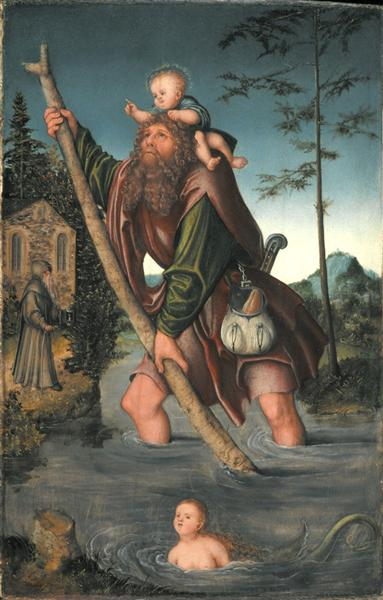 Saint Christopher, c.1516 - Lucas Cranach the Elder
