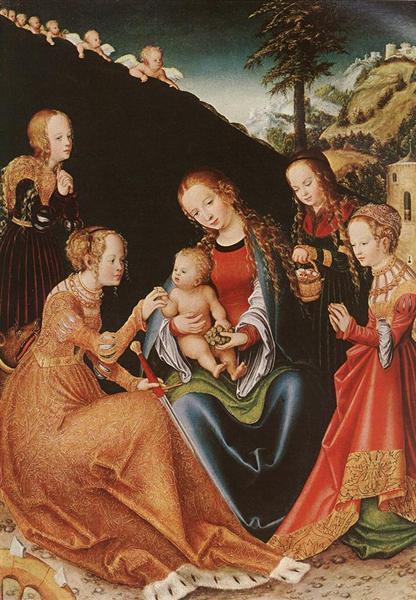 The Mystic Marriage of St. Catherine, c.1516 - Lucas Cranach der Ältere