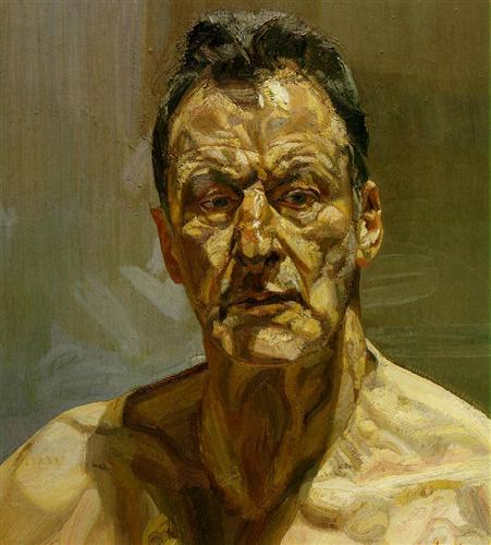 Painting of Older Man's Face