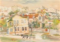 Bachik Houses and Hills - Lucian Grigorescu