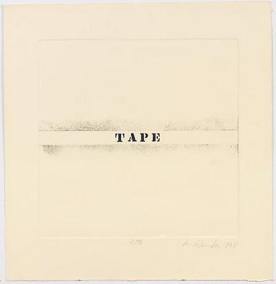 Tape - Luis Camnitzer