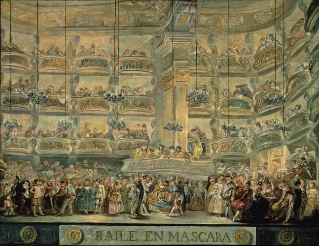 Baile en máscara, 1772 - Luis Paret y Alcázar