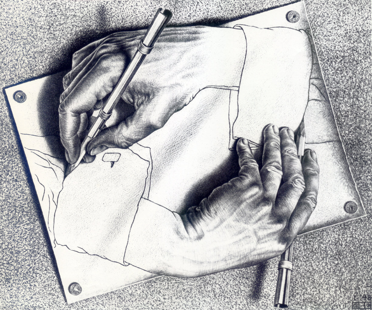 Escher hands drawing