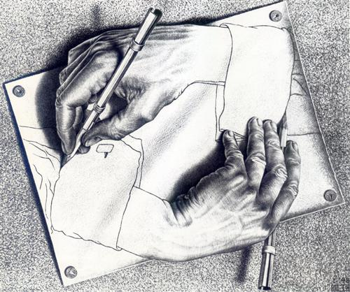 Drawing Hands - M.C. Escher
