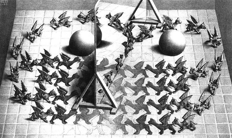 Magic Mirror, 1946 - M.C. Escher