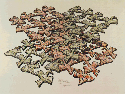 Twon Intersecting Planes Colour, 1952 - M.C. Escher