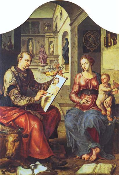 St. Luke Painting the Virgin, c.1545 - Maerten van Heemskerck