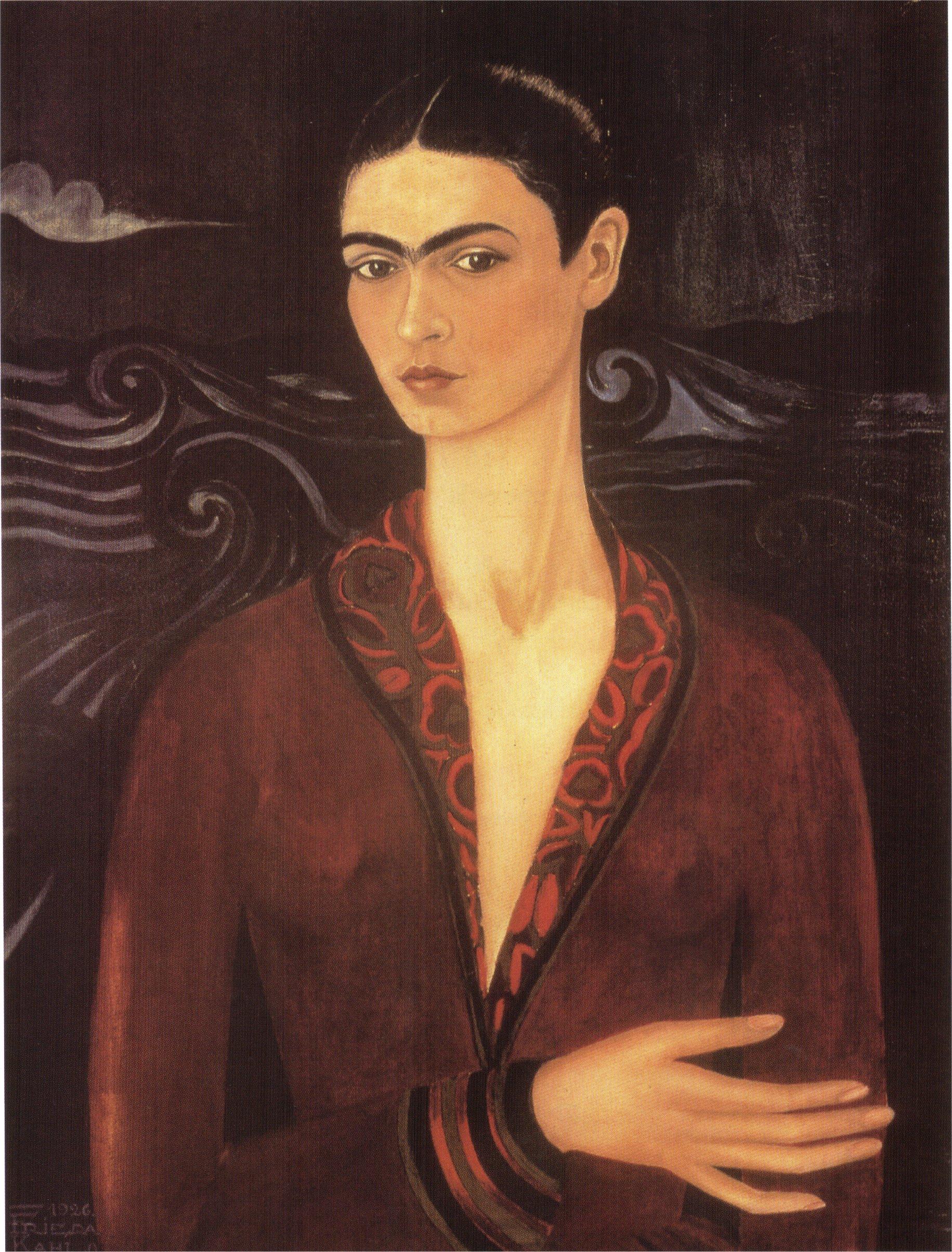 Self-portrait in a velvet dress