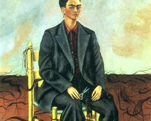Self Portrait with Cropped Hair - Frida Kahlo