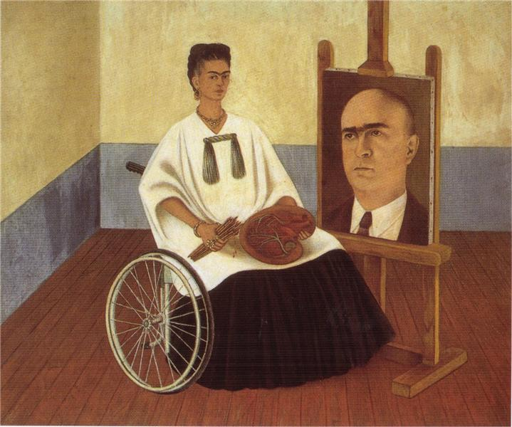Self-Portrait with the Portrait of Doctor Farill, 1951 - Frida Kahlo