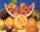 Still life with parrot - Frida Kahlo