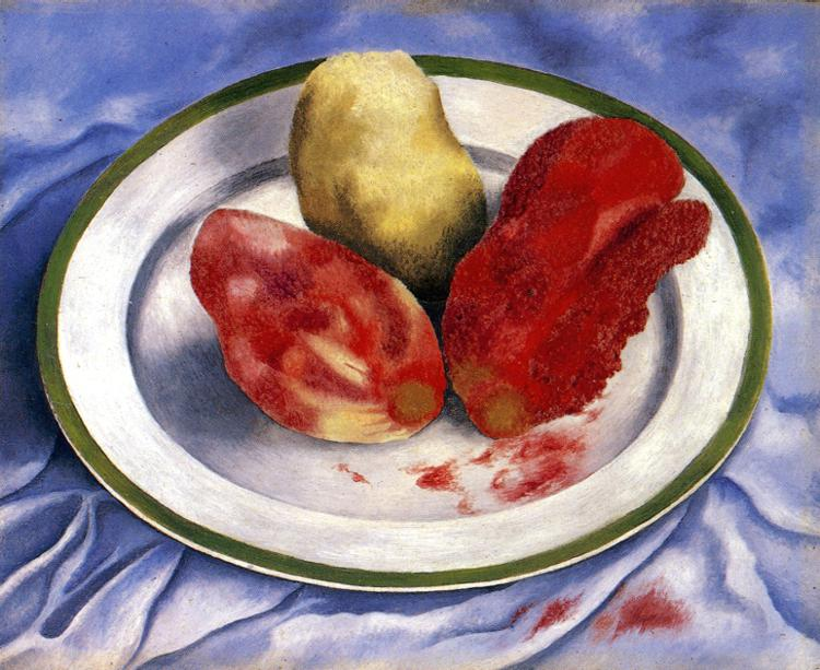 Tunas  Still Life with Prickly Pear Fruit Frida Kahlo Famous Paintings Still Life