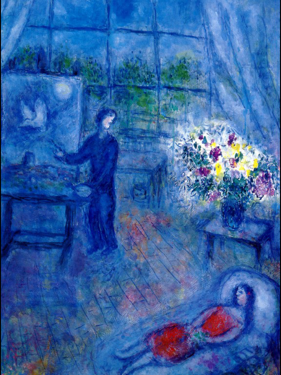 Artist and His Model, c.1973 - Marc Chagall - WikiArt.org Chagall Model