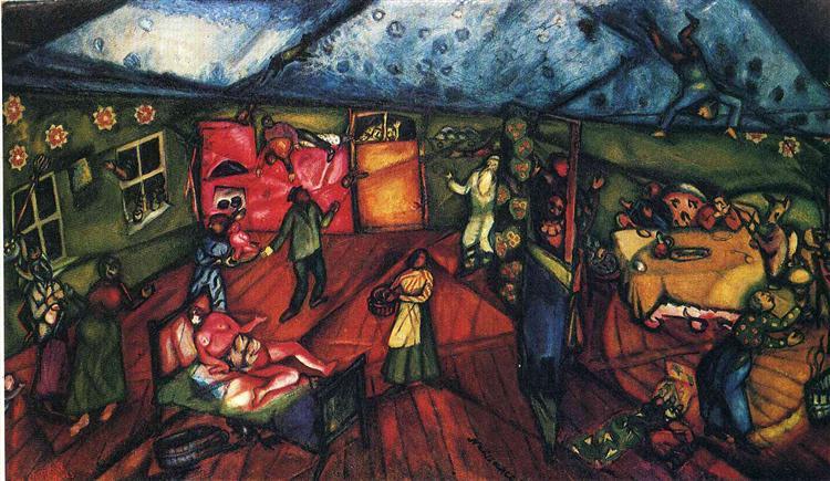 Birth, 1912 - Marc Chagall