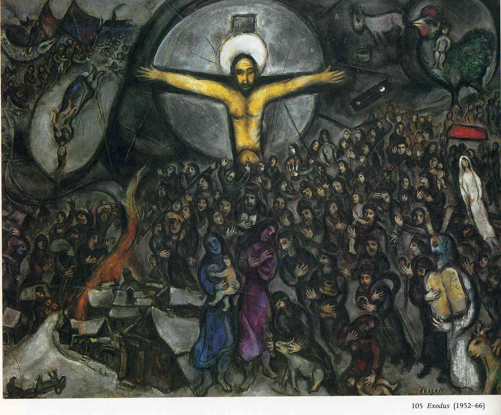Exodus, 1952 - 1966 - Marc Chagall - WikiArt.org Chagall Crucifixion Paintings