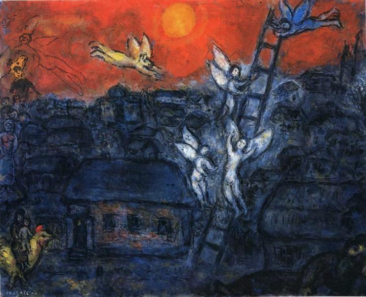 Сходинки Якова, 1973 - Марк Шагал