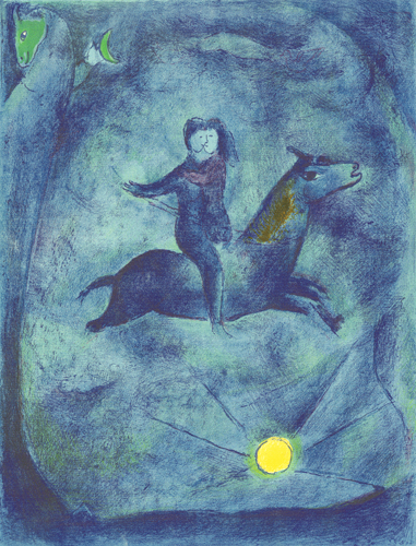 Mounting the ebony horse..., 1948 - Marc Chagall