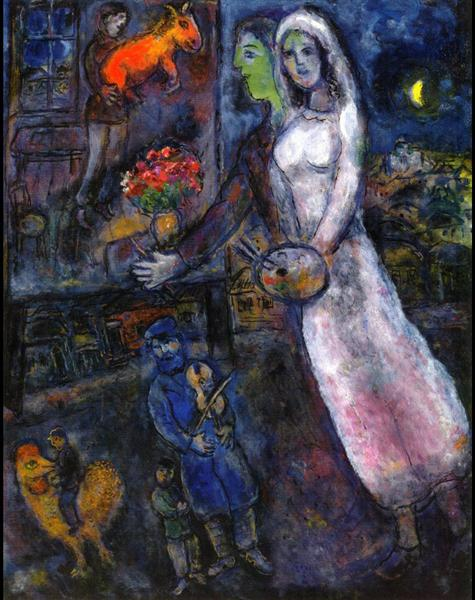 Newlyweds and Violinist, 1956 - Marc Chagall