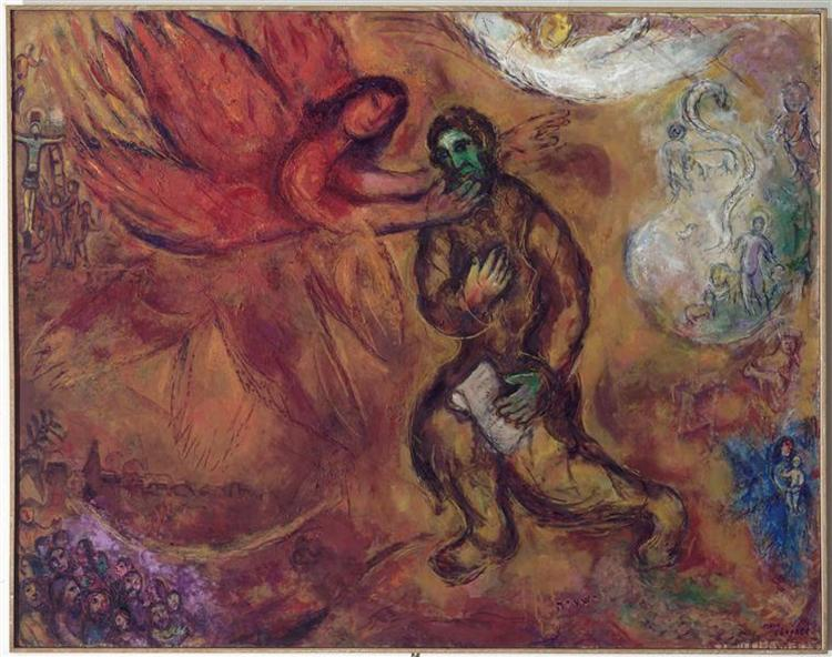 Prophet Isaiah, 1968 - Marc Chagall