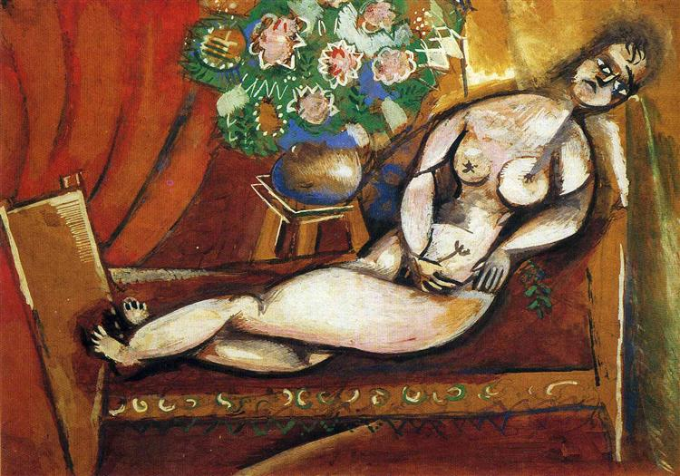 Reclining Nude, 1911 - Marc Chagall